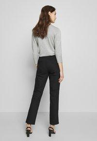 Selected Femme - SLFABBY SLIT PANT - Pantalones - black - 2