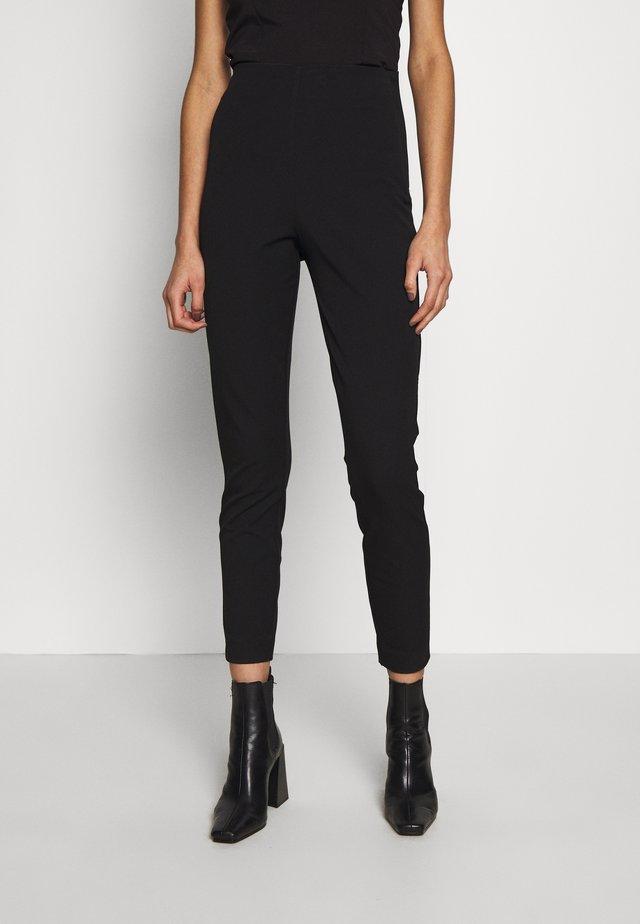 SLFILUE CROPPED SLIM PANT - Spodnie materiałowe - black