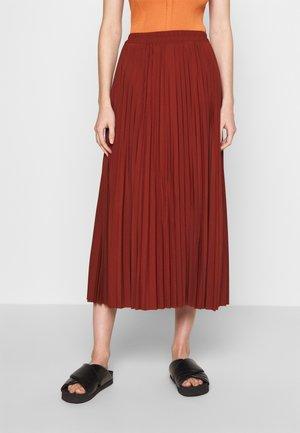 SLFALEXIS SKIRT - A-line skirt - mottled dark red