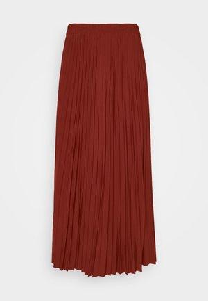 SLFALEXIS SKIRT - Spódnica trapezowa - mottled dark red