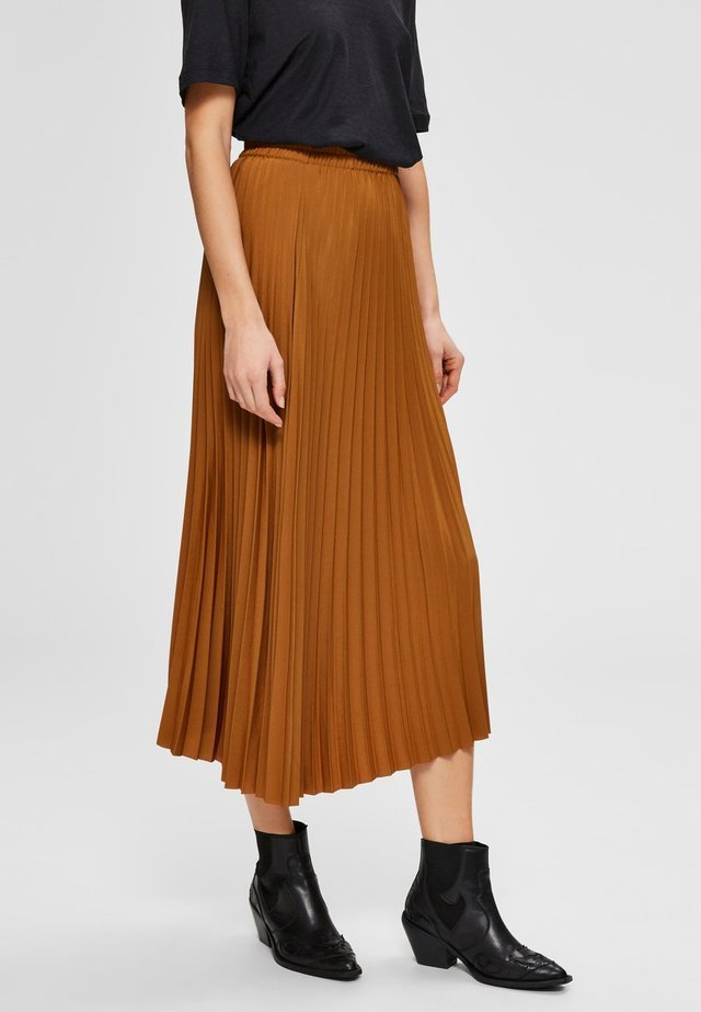 SLFALEXIS SKIRT - A-line skirt - bronze brown