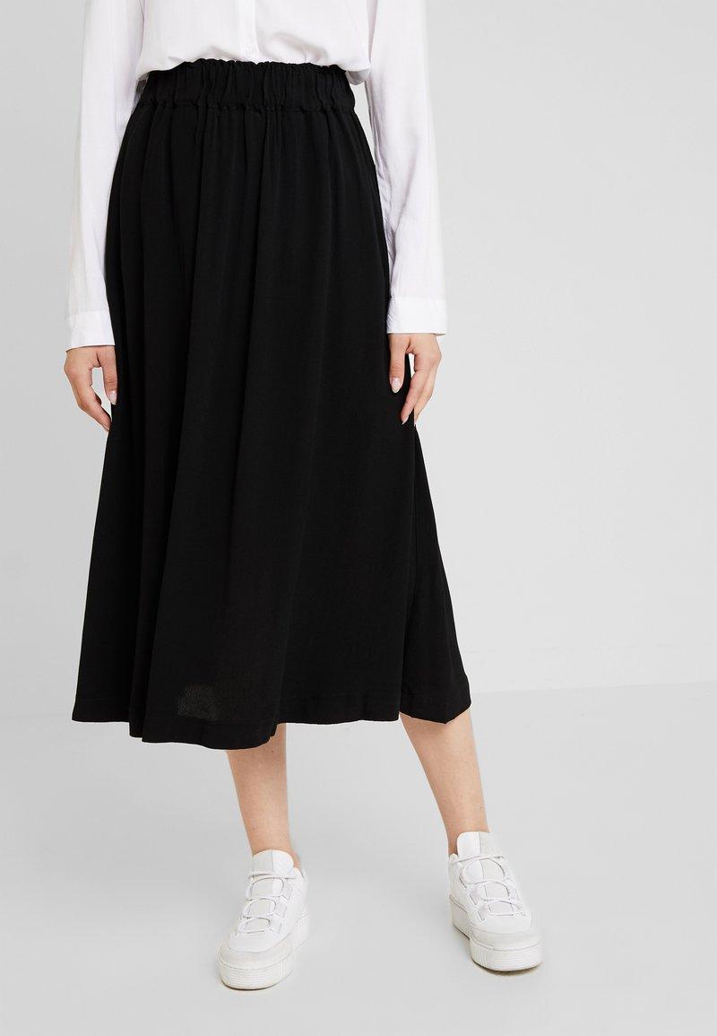 Selected Femme - SLFBISMA MIDI SKIRT - A-snit nederdel/ A-formede nederdele - black
