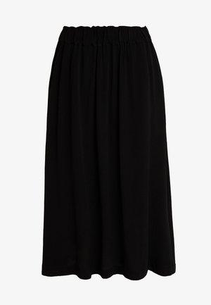 SLFBISMA MIDI SKIRT - A-line skirt - black