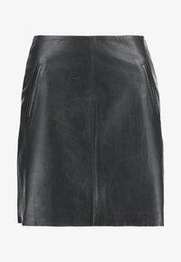 Selected Femme - SLFNINI SKIRT - Falda de cuero - black - 4