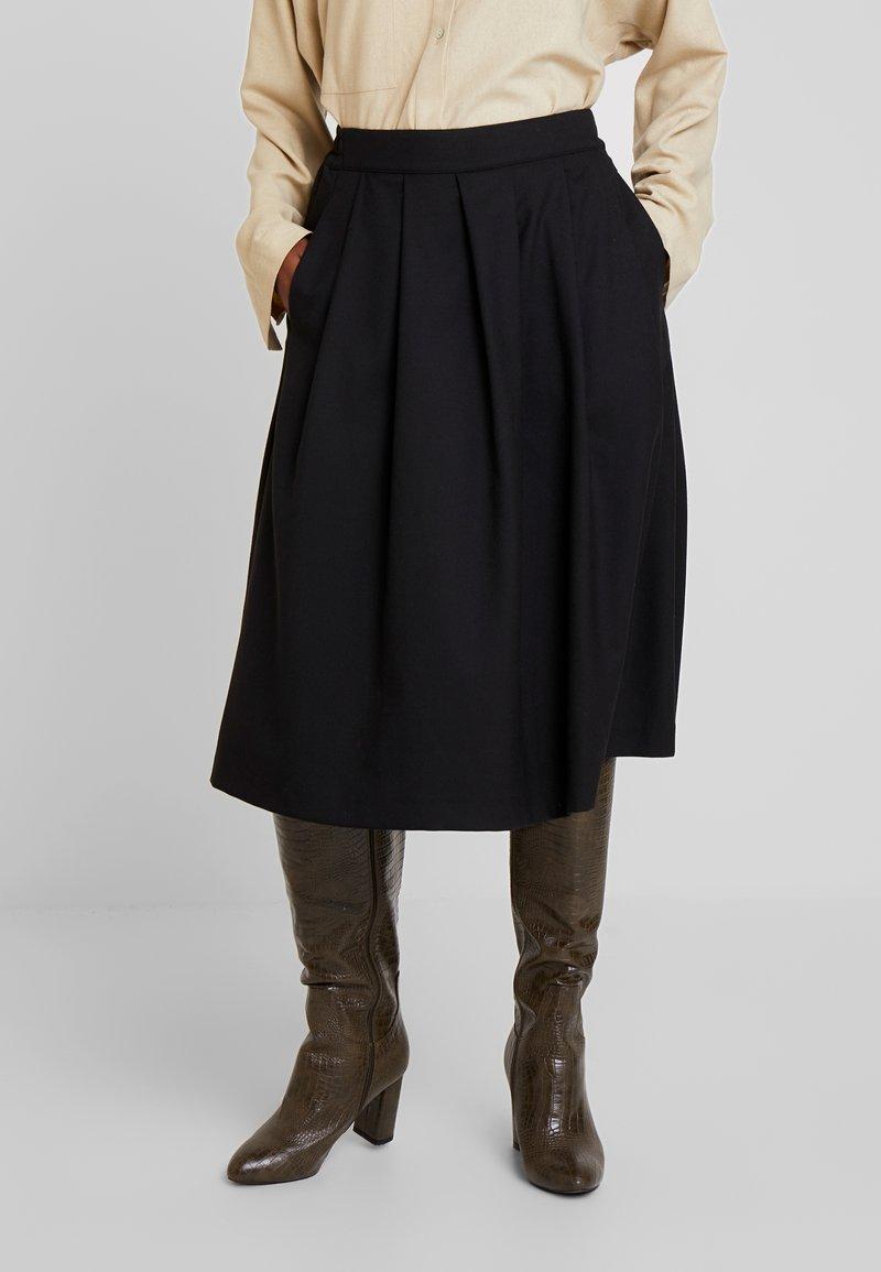 Selected Femme - SLFBIO SKIRT - A-snit nederdel/ A-formede nederdele - black