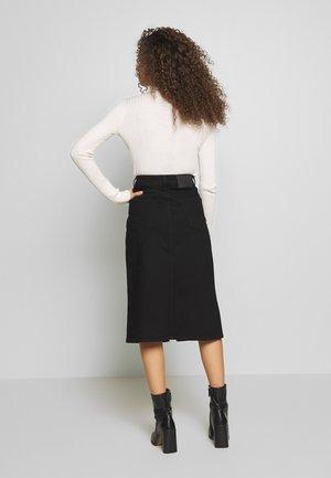 SLFVIOLET LASH SKIRT - Denim skirt - black denim