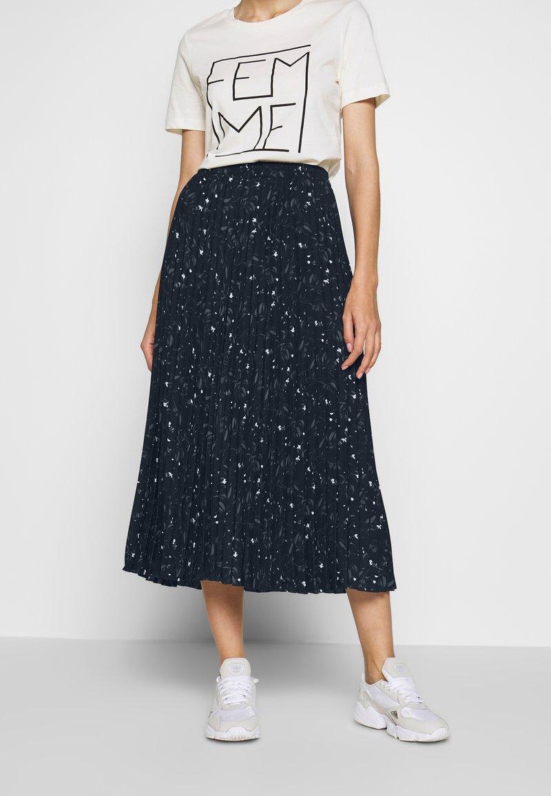 Selected Femme - SLFJOSIE MIDI SKIRT - A-line skirt - dark sapphire