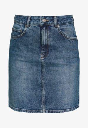 SLFKENNA SKIRT - Pencil skirt - medium blue denim