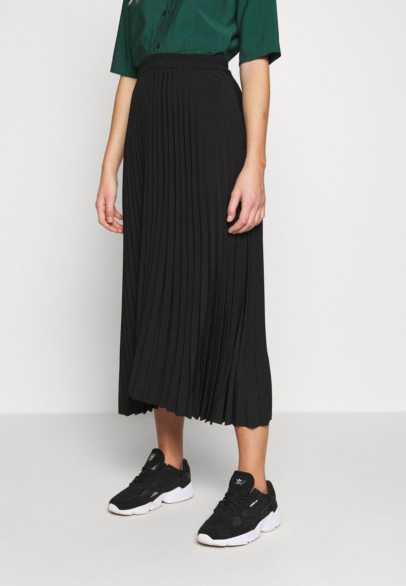 Selected Femme - SLFALEXIS MIDI SKIRT - A-line skirt - black