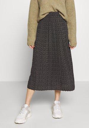 SLFFLOWER DITTE ANKLE SKIRT - A-line skirt - black