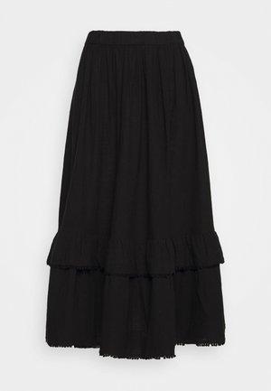 SLFJENNY SKIRT - Maxi skirt - black