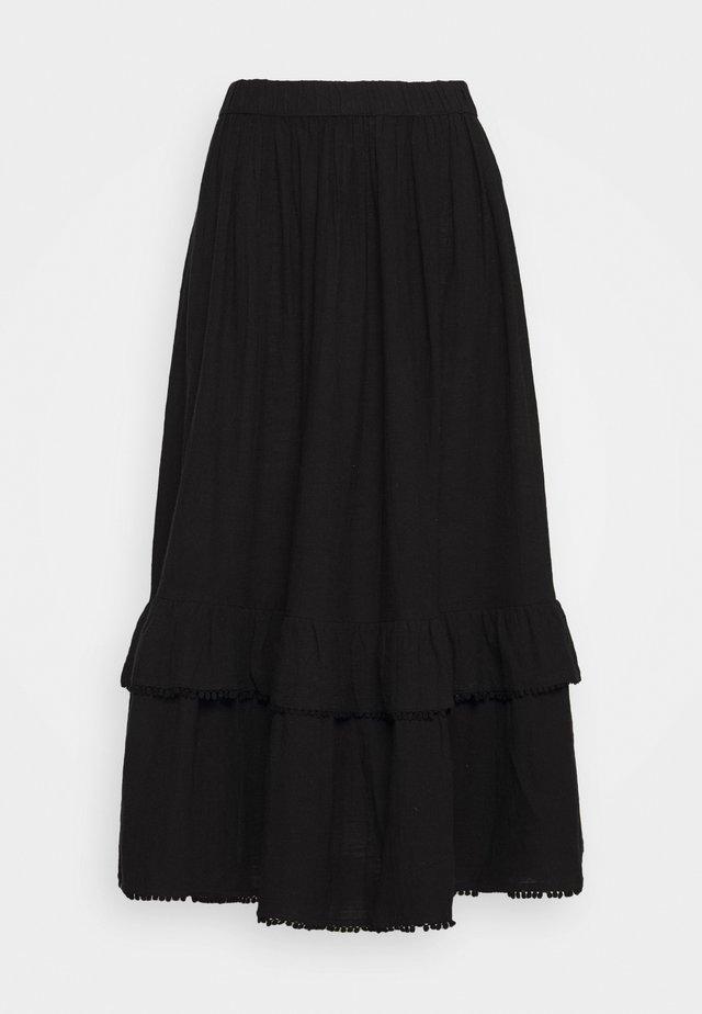 SLFJENNY SKIRT - Długa spódnica - black