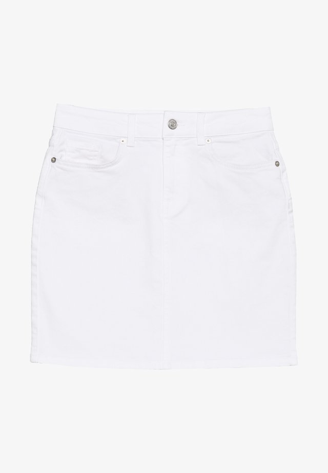 SLFKENNA MW  SKIRT - Spódnica trapezowa - white denim
