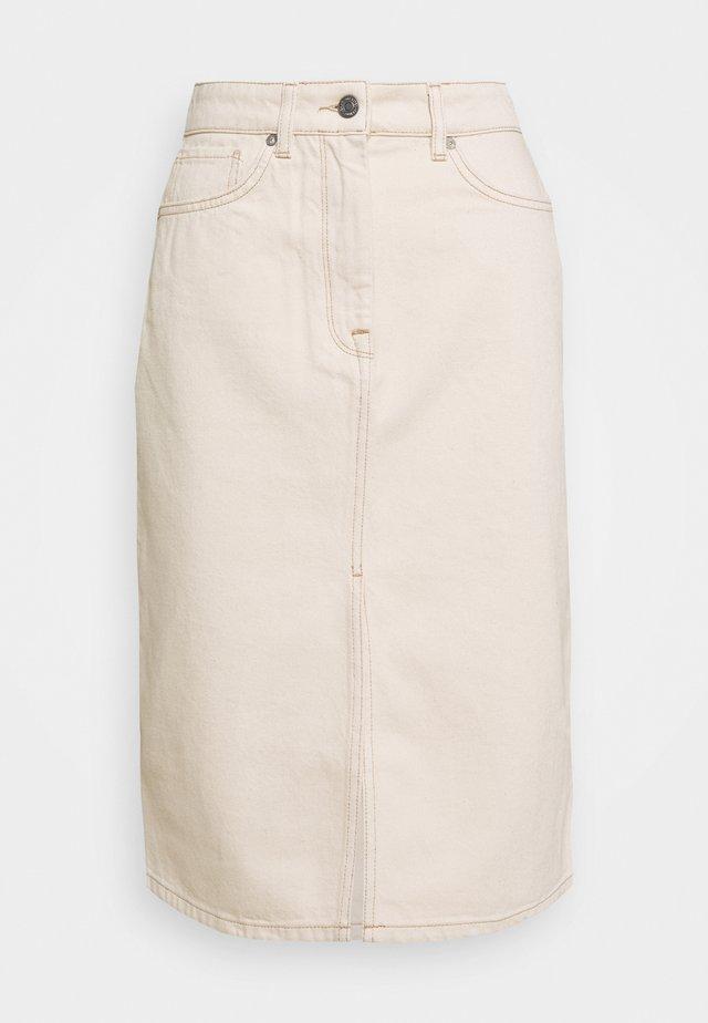 SLFMAY SKIRT - Spódnica ołówkowa  - white denim