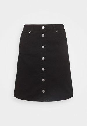 SLFROSE SKIRT - A-line skirt - black denim
