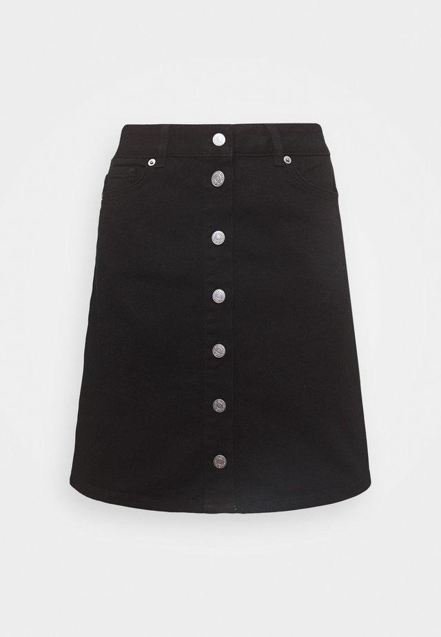 SLFROSE SKIRT - Spódnica trapezowa - black denim