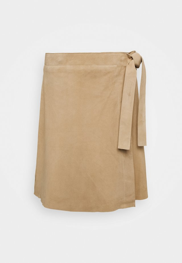 SLFMARIA WRAP SKIRT - Spódnica mini - curds & whey