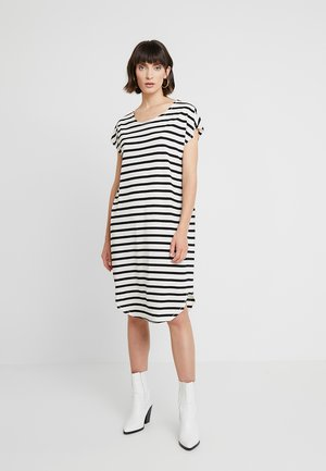SFIVY KNEE DRESS - Jerseyjurk - black/snow white