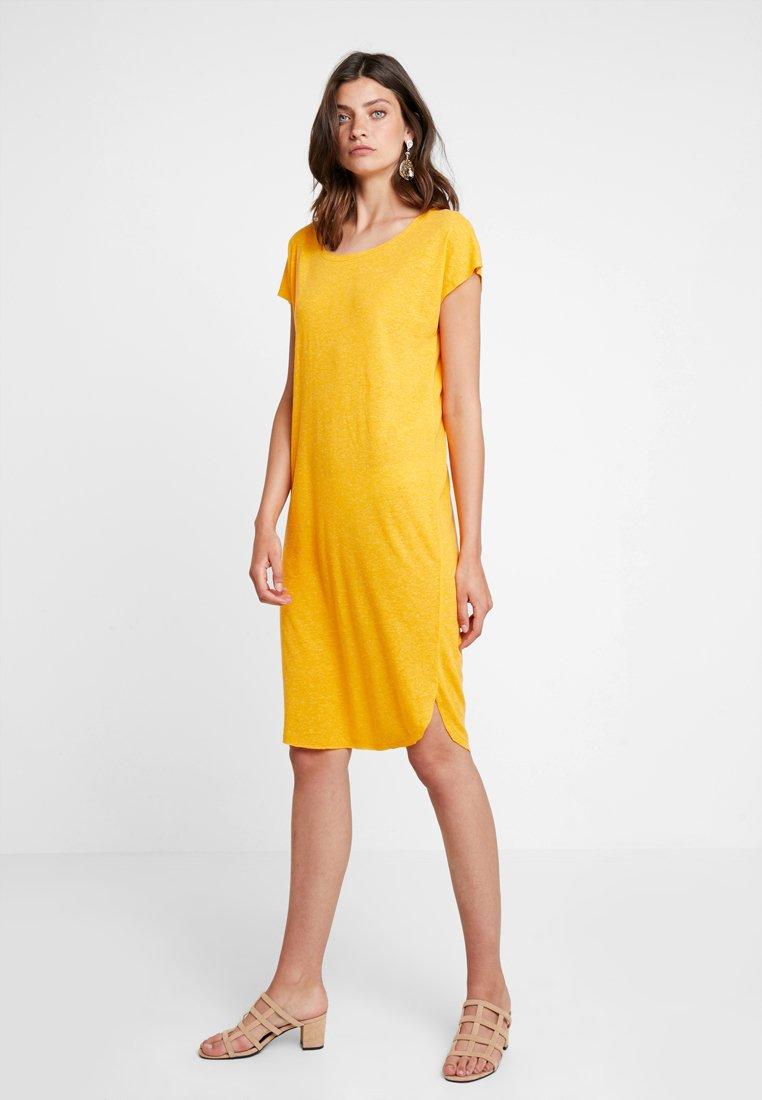 Selected Femme - SFIVY KNEE DRESS - Vestido ligero - radiant yellow