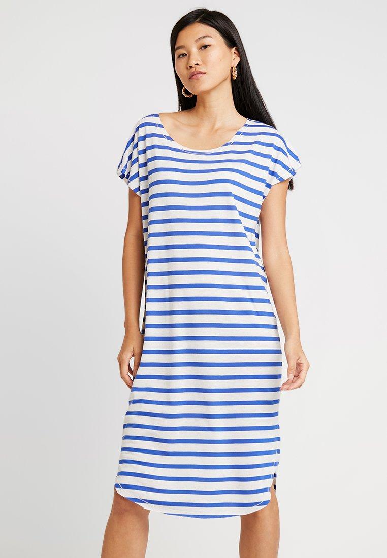 Selected Femme - SFIVY KNEE DRESS - Jerseykleid - dazzling blue/snow white