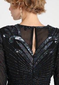 Selected Femme - SLFJUNA BEADED SHORT DRESS - Vestito elegante - black - 5