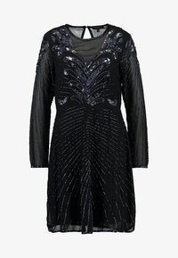 Selected Femme - SLFJUNA BEADED SHORT DRESS - Vestito elegante - black - 4