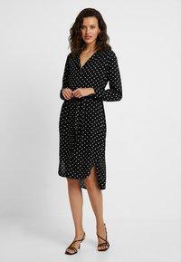 Selected Femme - SLFDYNELLA - Košilové šaty - black - 0
