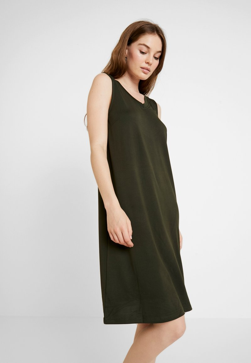 Selected Femme - SLFAIA V NECK DRESS - Jerseyjurk - rosin