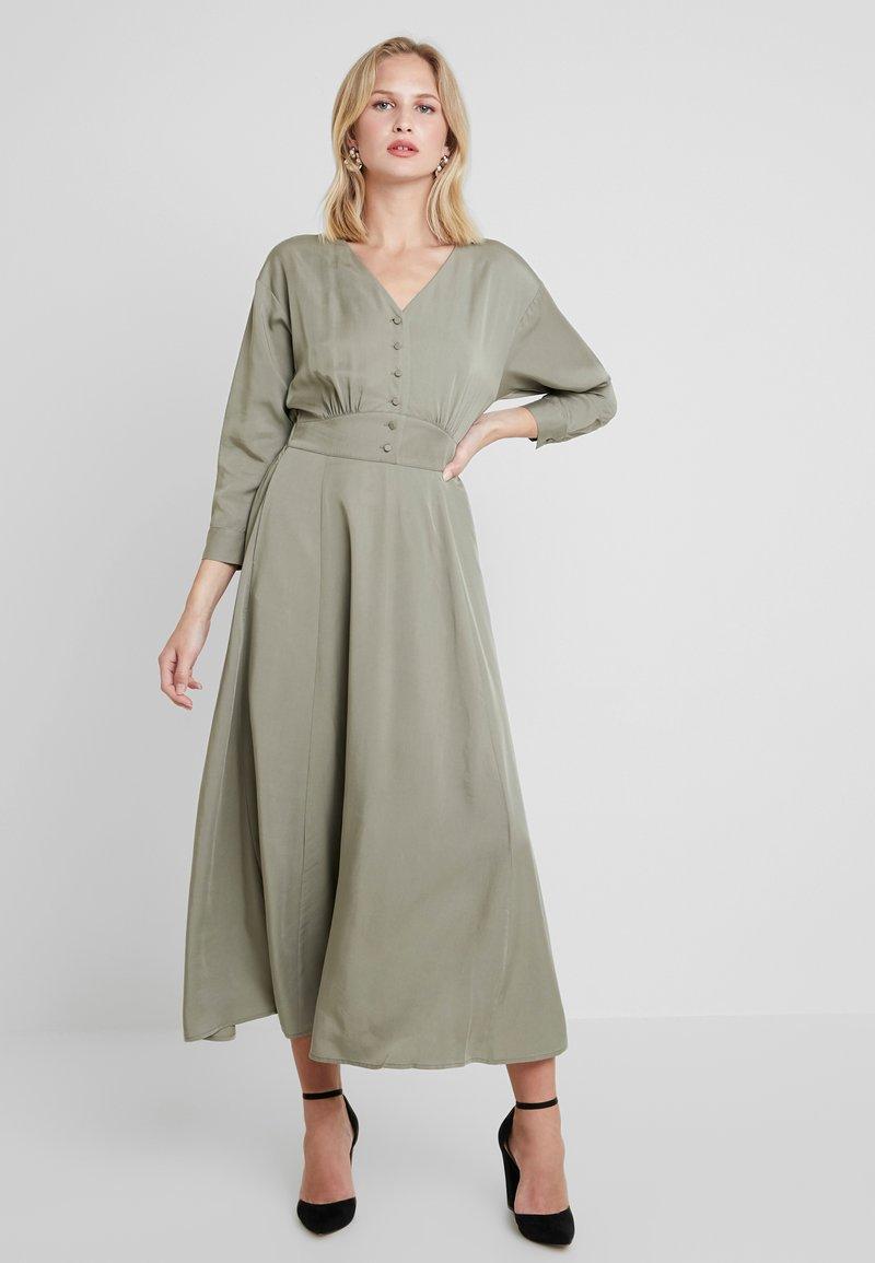 Selected Femme - ADDA 7/8 LONG DRESS - Maxi dress - vetiver