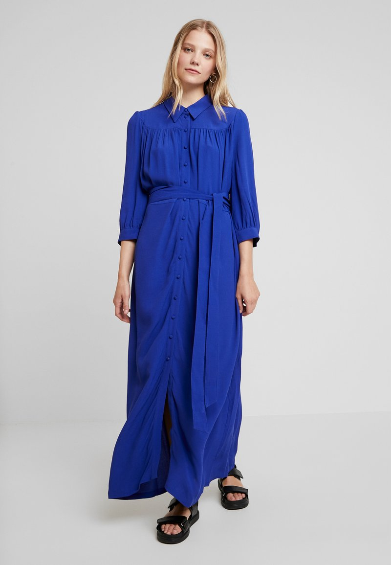 Selected Femme - SLFABIGAIL FLORENTA ANKLE DRESS - Maxi dress - clematis blue