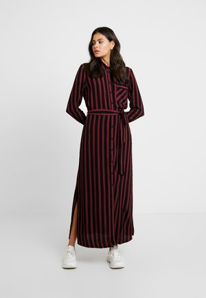 SLFFLORENTA  ANKLE SHIRT DRESS - Maxi-jurk - black/cabernet