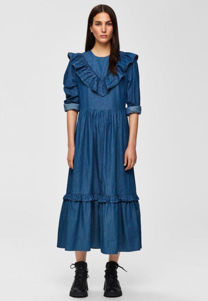 Selected Femme - Spijkerjurk - dark blue
