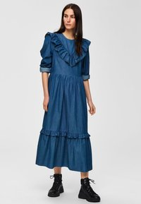 Selected Femme - Spijkerjurk - dark blue - 1