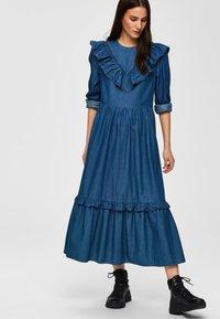 Selected Femme - Spijkerjurk - dark blue - 4