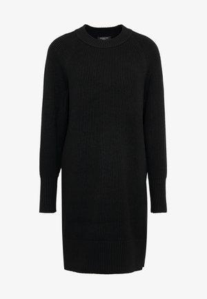 SLFMINNEA O-NECK DRESS - Strikket kjole - black