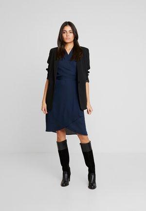 SLFALVA WRAP DRESS - Korte jurk - dark sapphire