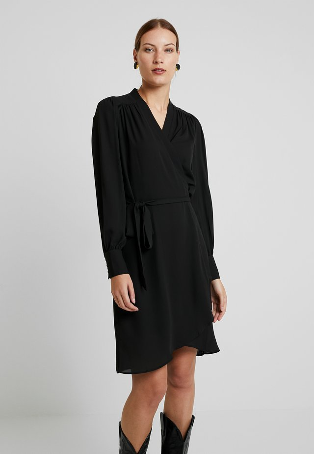 SLFALVA WRAP DRESS - Sukienka letnia - black