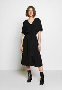 Selected Femme - SLFVIENNA DRESS - Day dress - black - 0