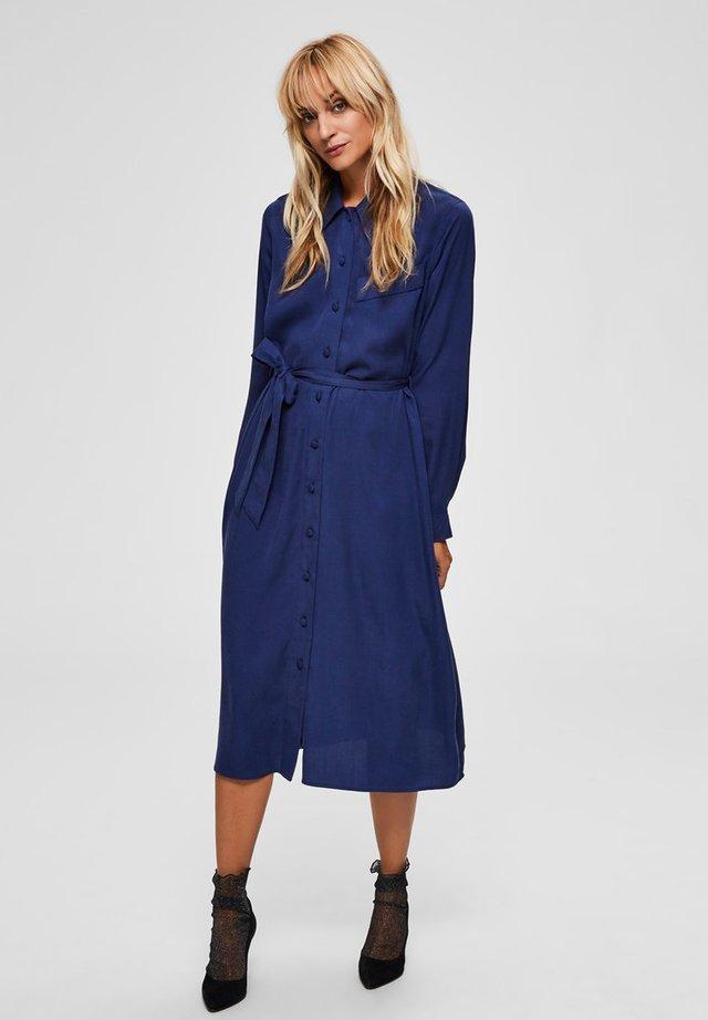 Shirt dress - medieval blue