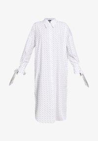 Selected Femme - SLFAMARIS LONG SHIRT DRESS - Shirt dress - snow white/black - 5