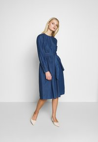 Selected Femme - SLFALINA DRESS - Denim dress - dark blue - 1