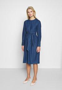 Selected Femme - SLFALINA DRESS - Denim dress - dark blue - 0