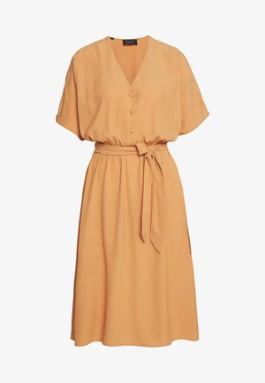 SLFVIENNA SHORT DRESS  - Day dress - caramel