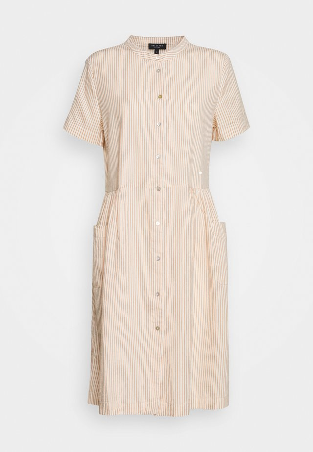 SLFROSE DRESS EX - Shirt dress - birch/caramel