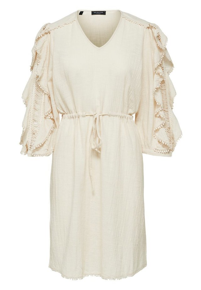 SLFJENNY 3/4 SHORT DRESS - Sukienka letnia - sandshell