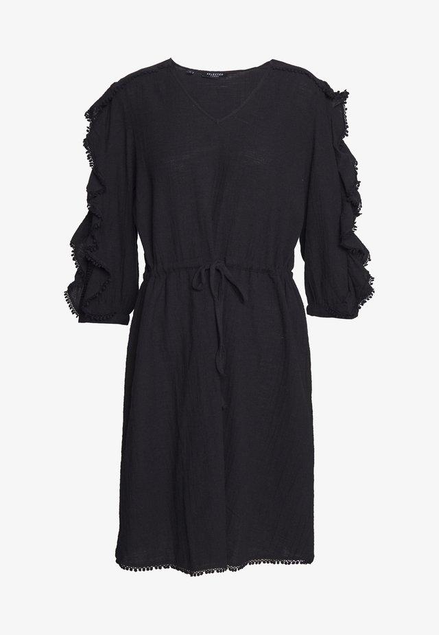 SLFJENNY 3/4 SHORT DRESS - Korte jurk - black