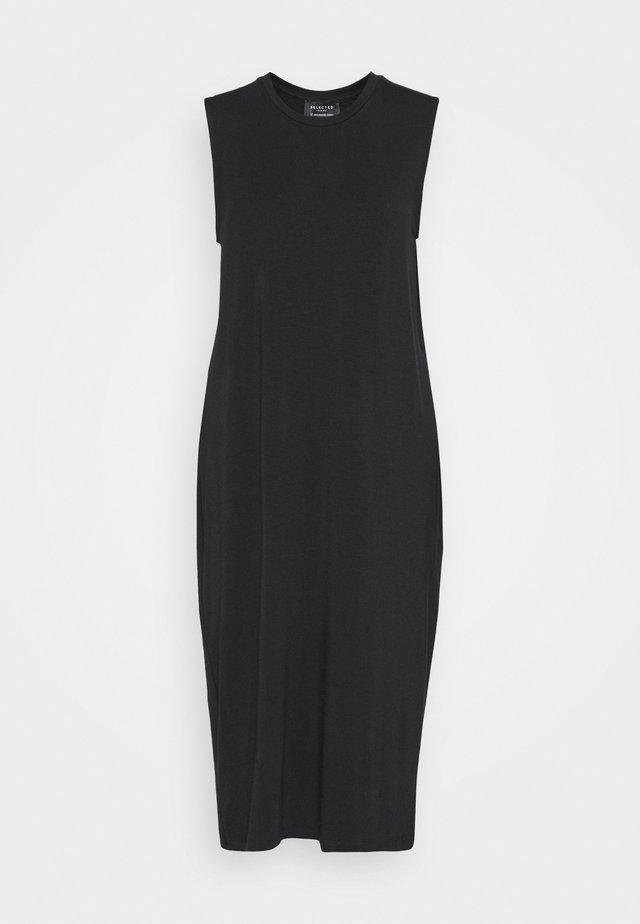 SLFLOLA MIDI DRESS - Žerzejové šaty - black