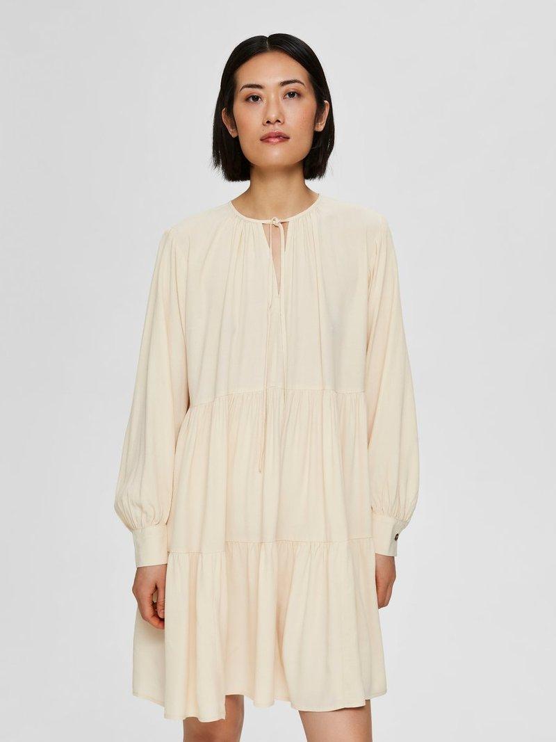 Selected Femme - Korte jurk - sandshell