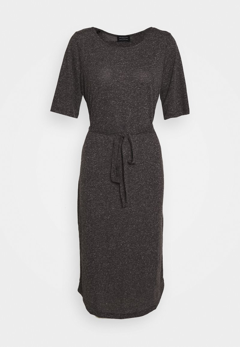 Selected Femme - SLFIVY BEACH DRESS - Jerseyjurk - black