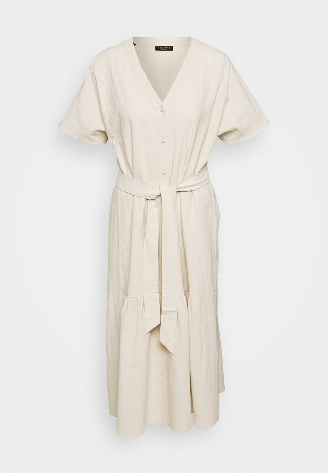 SLFMIONI MIDI DRESS - Sukienka letnia - sandshell